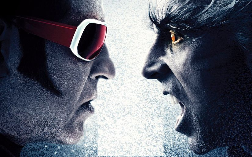 Rajinkanth and Akshay Kumar in a promotional still of 2.0