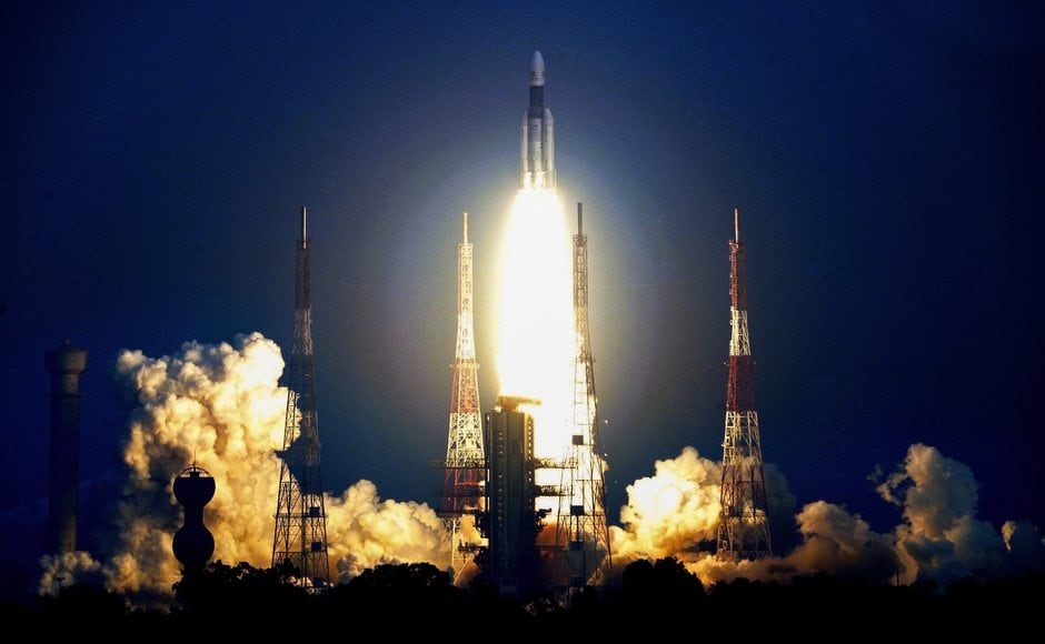 The GSLV-MkIII, weighing 640 tonnes and 43.4 metres tall, blasted off at 5.08 pm on 14 November 2018. PTI