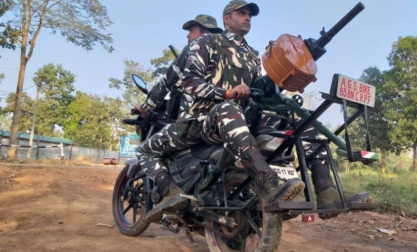 In a first of its kind initiative, the CRPF in Bijapur has launched Bike grenade launcher to combat Maoists in the area. Image/Firstpost