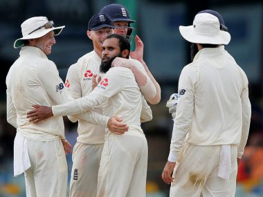 England leg-spinner Adil Rashid took 5 for 59 in the first innings. Reuters