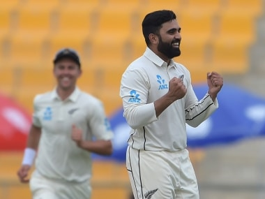 Ajaz Patel claimed match-winning 5-wicket haul on Debut in first Test. AFP