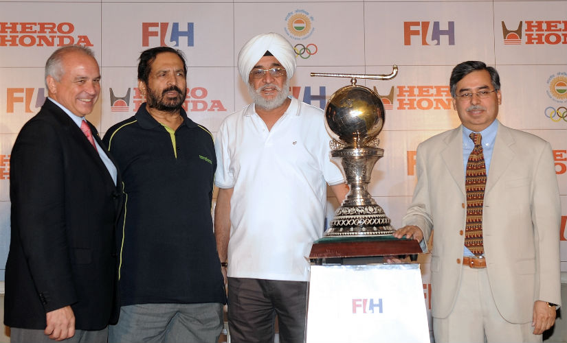 Ajitpal Singh (third from left) is India's only World Cup-winning captain. File/ AFP