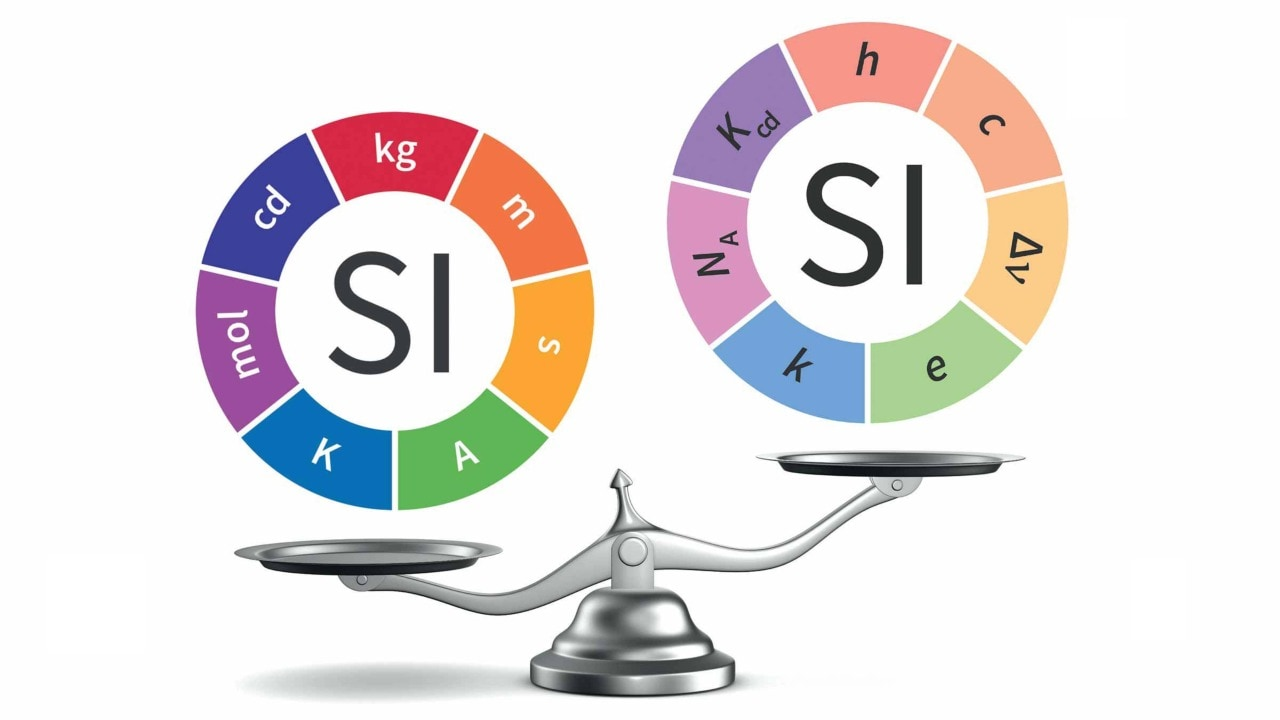Out with the old and in with the new – the new quantities used to measure the standard (SI) units are all constants in nature. Image courtesy: BIPM