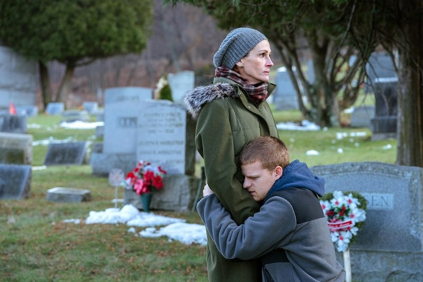 Julia Roberts and Lucas Hedges in Ben is Back. Image via Twitter