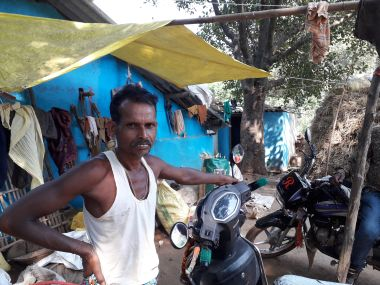 Kuldhar Nag, a farmer belonging to the Madia tribe in the village of Belar, one of the 10 affected villages, says the administration and officials coerced him to forgo his four-acre land. Image/Parth MN