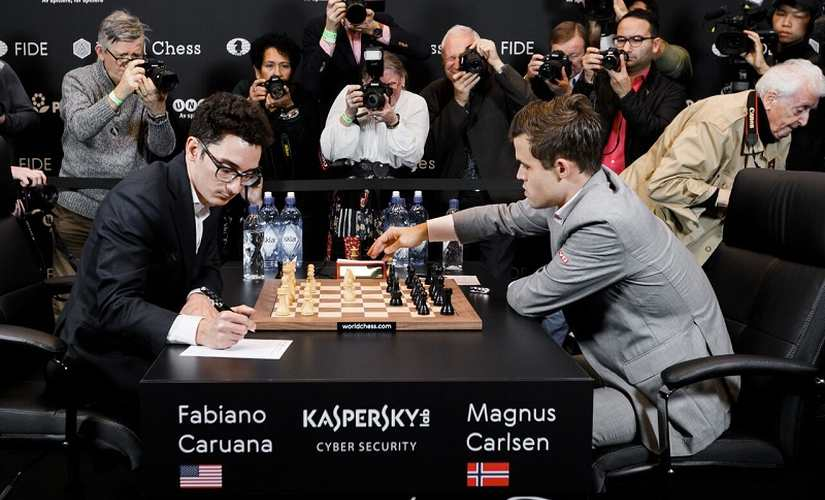 The twelfth game abruptly ended in a draw after Magnus Carlsen's surprising draw offer. Image Couurtesy: World Chess