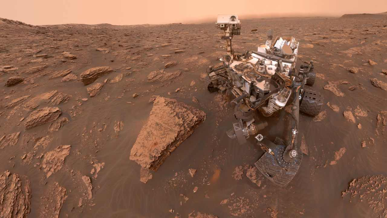 The Curiosity rover's dusty self-portrait after the Mars dust storm cleared in September. Image courtesy: NASA