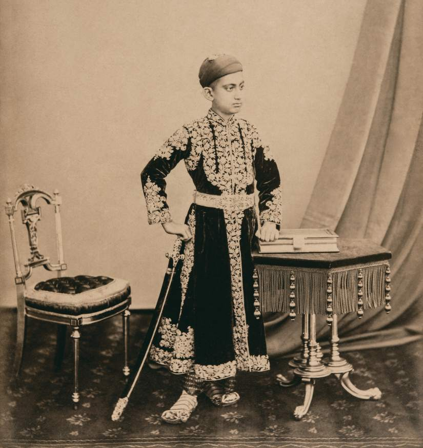 Bourne and Shepherd. Mir Mahboob Ali Khan, Hyderabad, c. 1882. Albumen silver print. Chowmahalla Palace Collection, Hyderabad