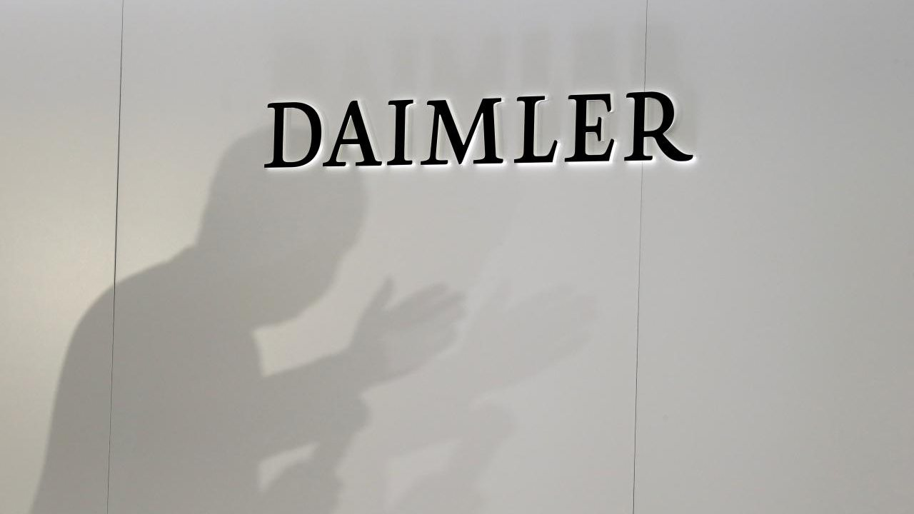 FILE PHOTO: The Daimler is seen during a press conference on the second press day of the Paris auto show, in Paris, France, October 3, 2018. REUTERS/Regis Duvignau
