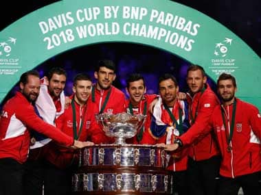 Davis Cup Final: Marin Cilic beats Lucas Pouille in straight sets to give Croatia unassailable lead over France