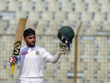 Mominul Haque slammed his fourth Test century in 2018, equalling Virat Kohli. AFP