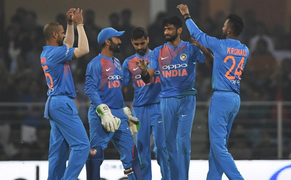 India bowlers picked wickets at regular intervals not allowing Windies to get into the game. Khaleel Ahmed picked his first of the two wickets. AFP