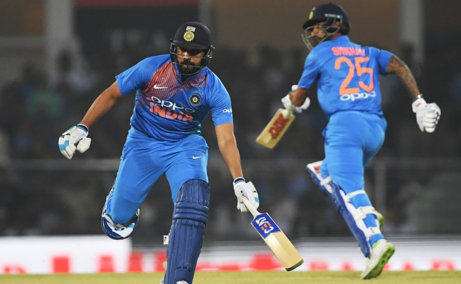 Rohit and Shikhar Dhawan notched a 100-run stand for the first wicket to set a platform for a big score. AFP
