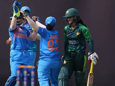 File image from an India-Pakistan contest played at Women's Asia Cup in 2018. Image courtesy: Twitter/@BCCIWomen