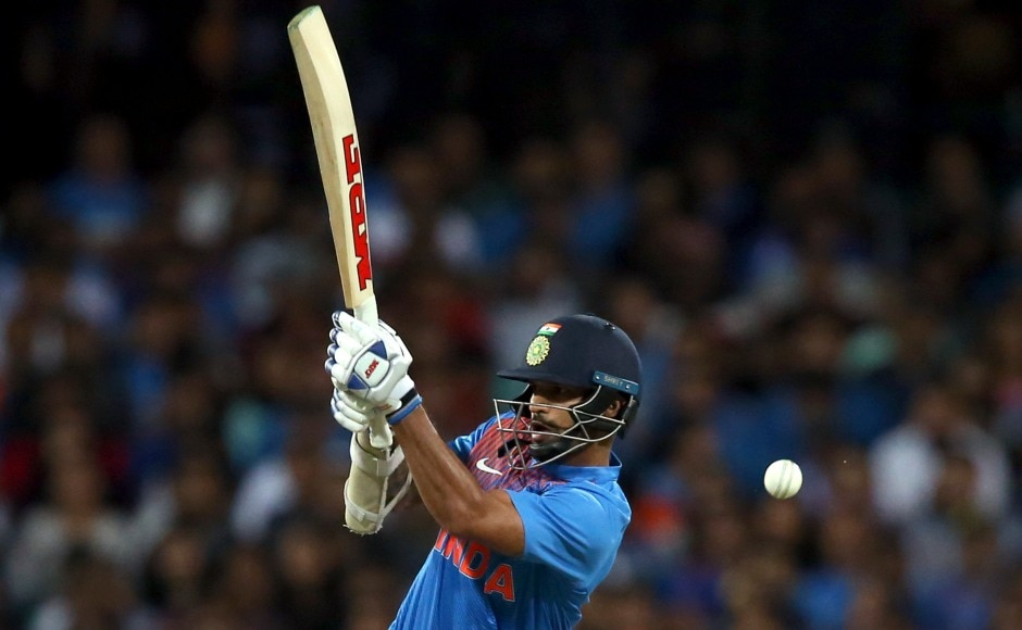 Shikhar Dhawan shellacked 41 off 22 balls providing India with rapid start. AP