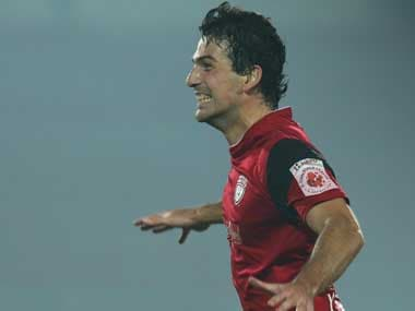 Juan Mascia scored the late winner for NorthEast United with a thunderous volley. Twitter@IndSuperLeague