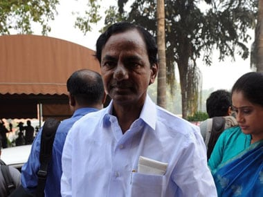 File image of K Chandrashekar Rao. AFP