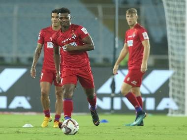 Kalu Uche of ATK during a warm-up session earlier last month. SPORTZPICS/ISL