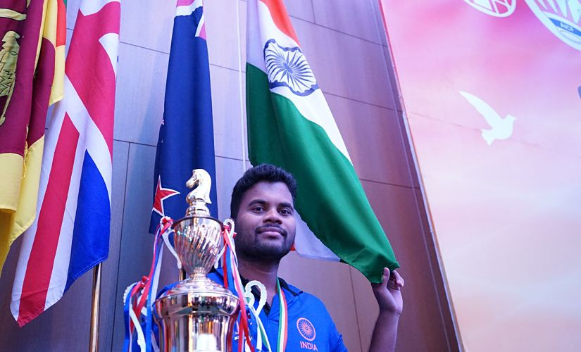 Karthikeyan Pandian is also the reigning Commonwealth Champion. Image Courtesy: Amruta Mokal