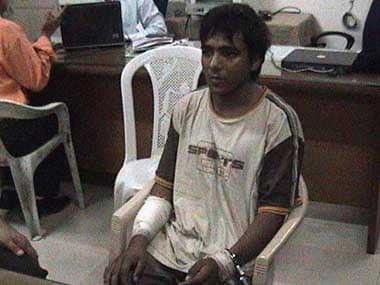 File image of Ajmal Kasab, the terrorists who was caught and later executed.
