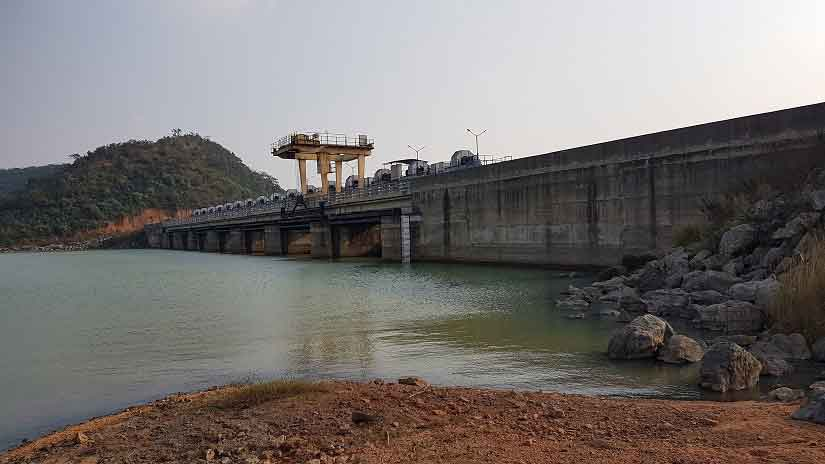 Front view of the Kelo Dam near Raigarh in Chattisgarh. Image Courtesy: 101Reporters