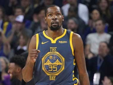 Kevin Durant's season-high 44 points helped Golden State Warriors win their second consecutive match after a losing streak. Reuters