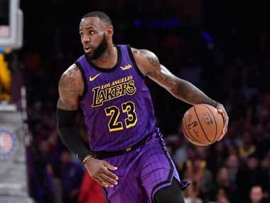 LeBron James' 44 points against the Portland Trail Blazers helped him leapfrog Wilt Chamberlain in the NBA all-time scoring charts. AP