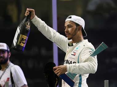 Despite having already secured the title, Lewis Hamilton was in no mood to take it easy, winning the final race of the season. Reuters