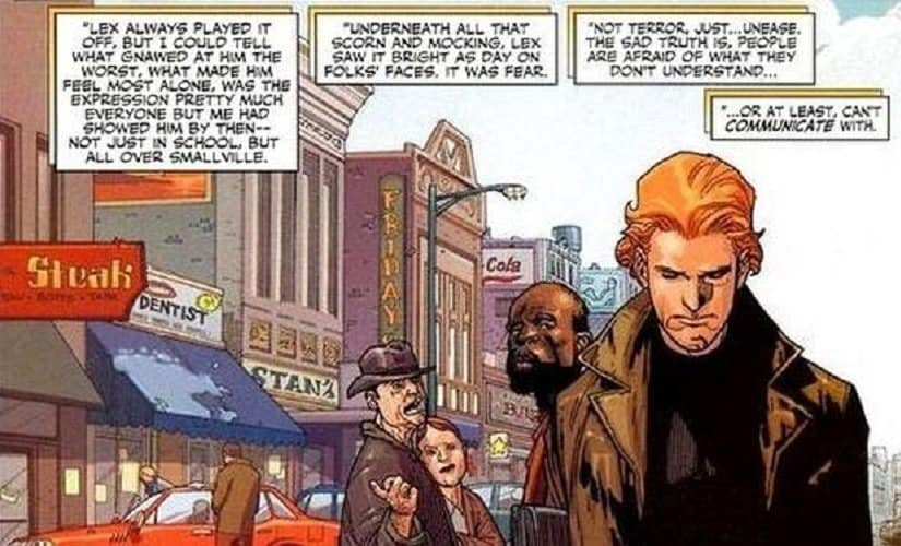 At some points, he's also had a full head of bright red hair | Source: DC comics