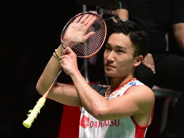 Kento Momota won his eighth title of the year. AFP
