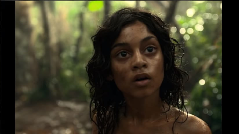 A still from the trailer of Mowgli: Legend of the Jungle. Screengrab from YouTube