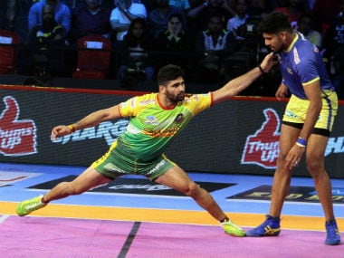 Patna Pirates' captain Pardeep Narwal in action against Tamil Thailavas. PKL
