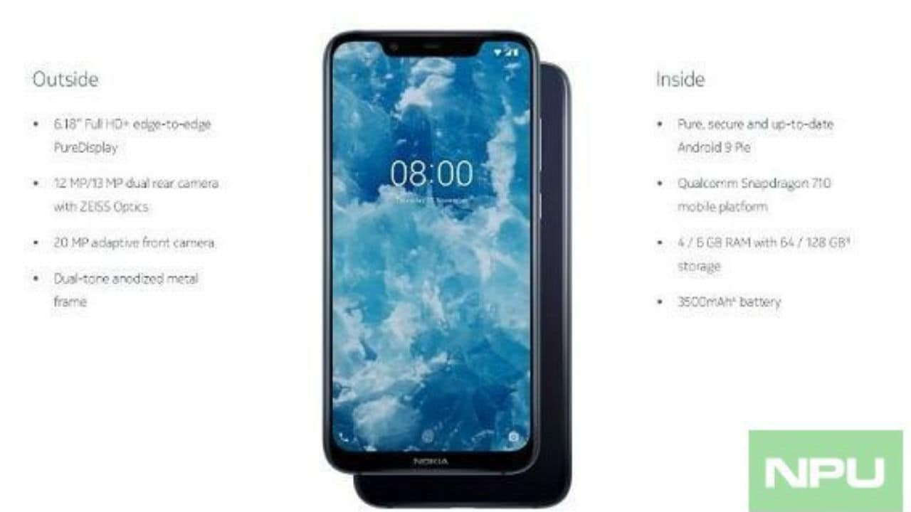Nokia 8.1 leaked images confirm that it will be the global variant of Nokia X7