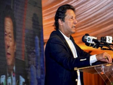 Pakistan's Prime Minister Imran Khan addresses during ground breaking ceremony for Kartarpur corridor. PTI