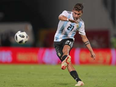 Paulo Dybala put in an impressive performance as Argentina cruised to victory over Mexico. AP