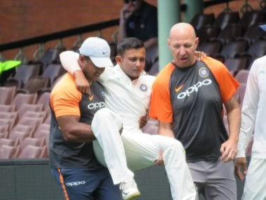 India vs Australia: Doubts over Prithvi Shaw playing in first Test after youngster is carried off field due to injured ankle in tour match