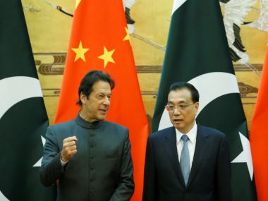 File image of Pakistan president Imran Khan with Chinese president Xi Jinping. Reuters