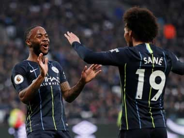 Raheem Sterling bagged a goal and two assists as Manchester City beat West Ham. Reuters