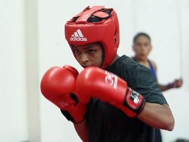 Somalia's Ramla Ali during a practice session.