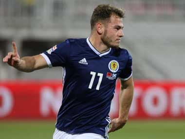 Bournemouth's Ryan Fraser scored his first international goal as Scotland beat Albania. Reuters