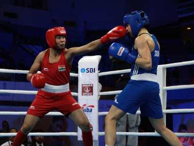 Sarita Devi defeated Diana Sandra Brugger in her opening bout at the Women's  World Boxing Championship in New Delhi. BFI
