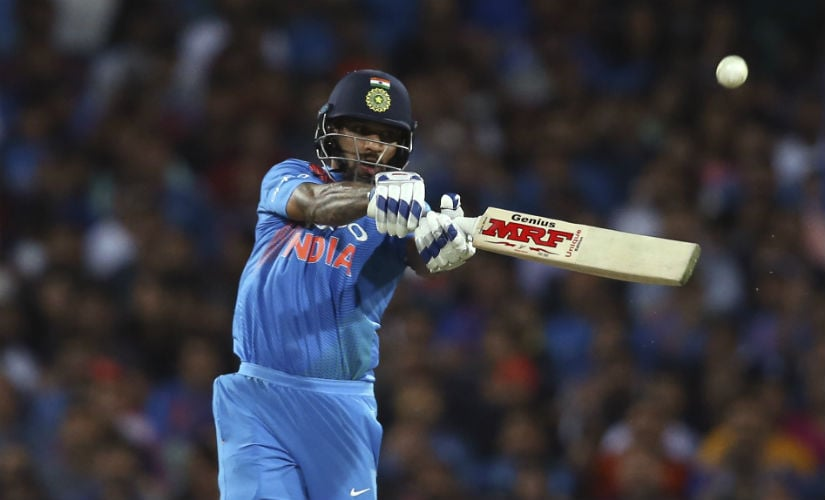 Shikhar Dhawan scored 76 and 41 in the two opportunities he got in the Australia T20I series. AP