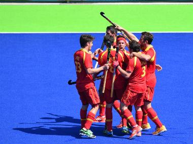 File image of Spanish hockey team. AFP