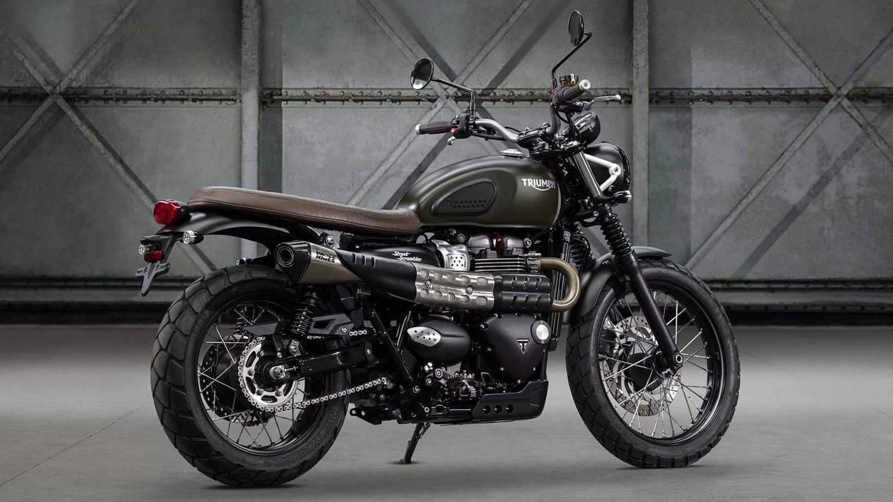 The suspension on the 2019 Street Scrambler has been updated for improved stability.