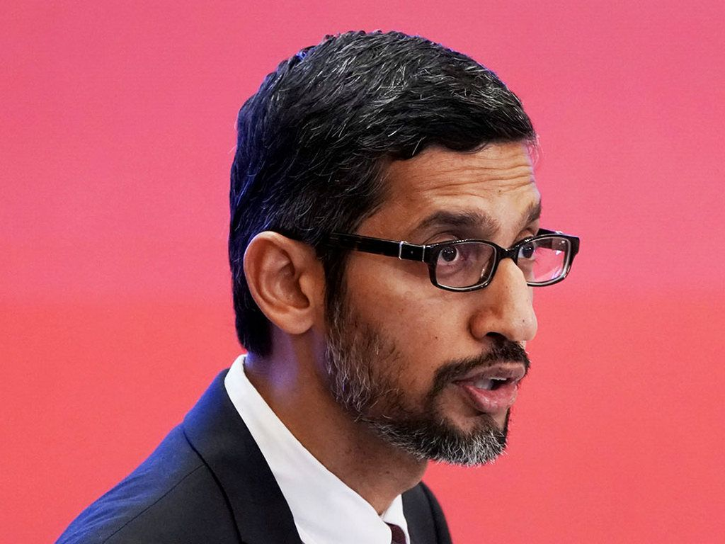 Google CEO Sundar Pichai published the charter after weeks of protest from employees forced the company to reconsider its stance on AI. Image: Reuters
