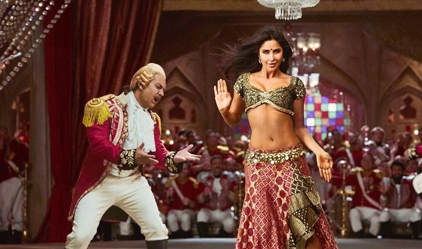 Aamir Khan and Katrina Kaif in a still from Thugs of Hindostan. Image via Twitter
