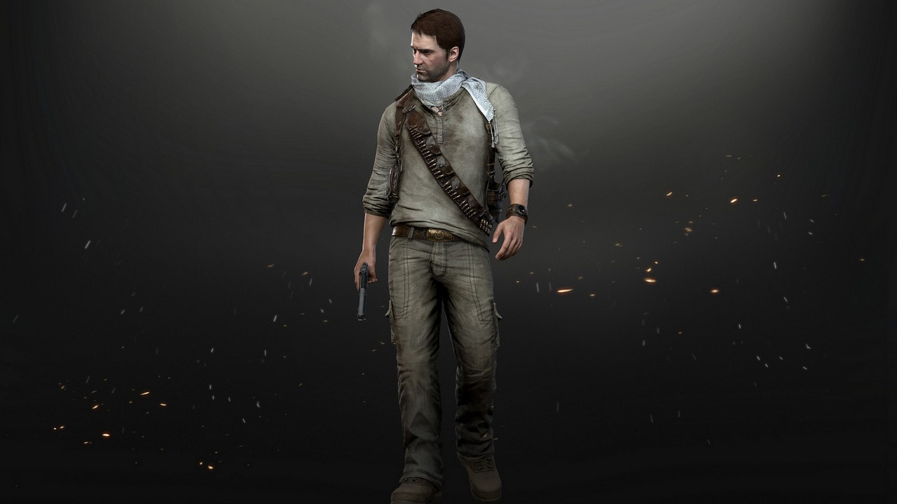 "A Nathan Drake Uncharted series ""desert ="" ""outfit ="" ""= ="" ""up ="" ""for ="" ""accesses ="" ""if ="" ""you ="" ""pre-order ="" ""the = """" Game. = """" Image: = """" sony = """