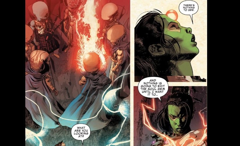 Defeat may be too strong a term since they were mostly just glowering at her | Marvel Comics