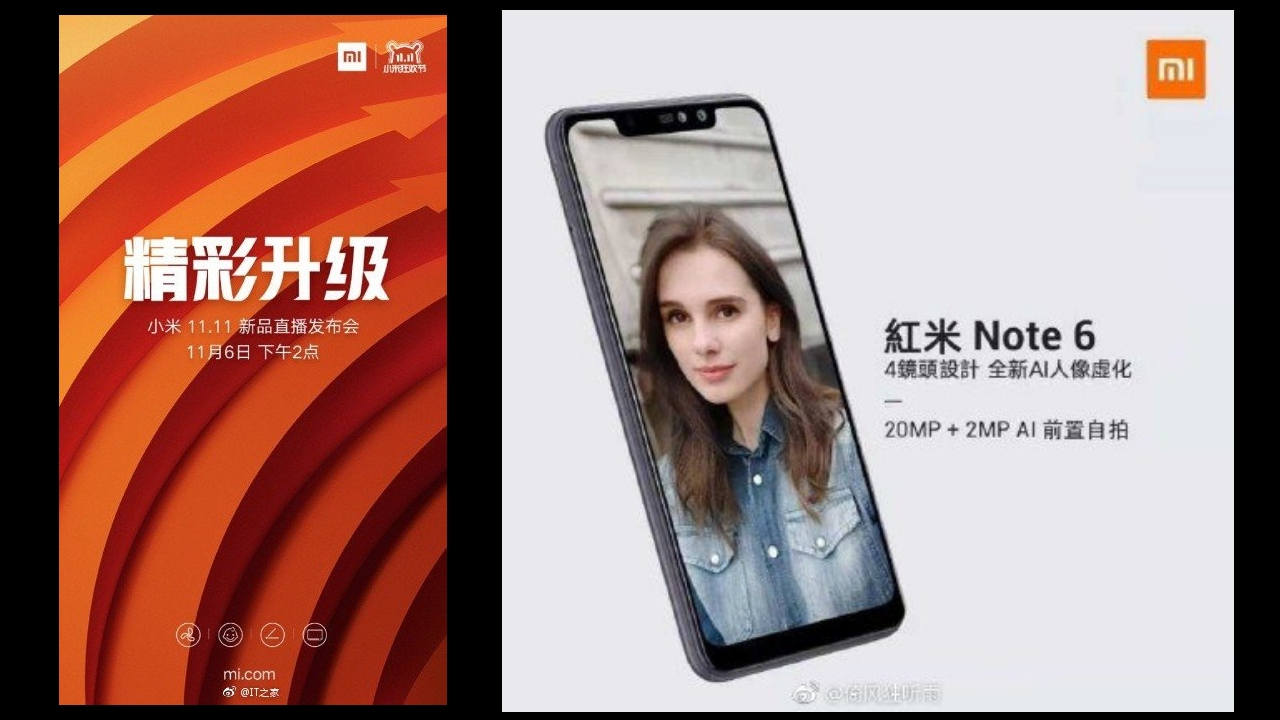 Xiaomi to launch new device on 6 November in China, could be Redmi Note 6