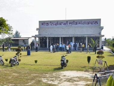 The Nirankari Bhawan in Amritsar where two men on a motorcycle reportedly threw a grenade. PTI
